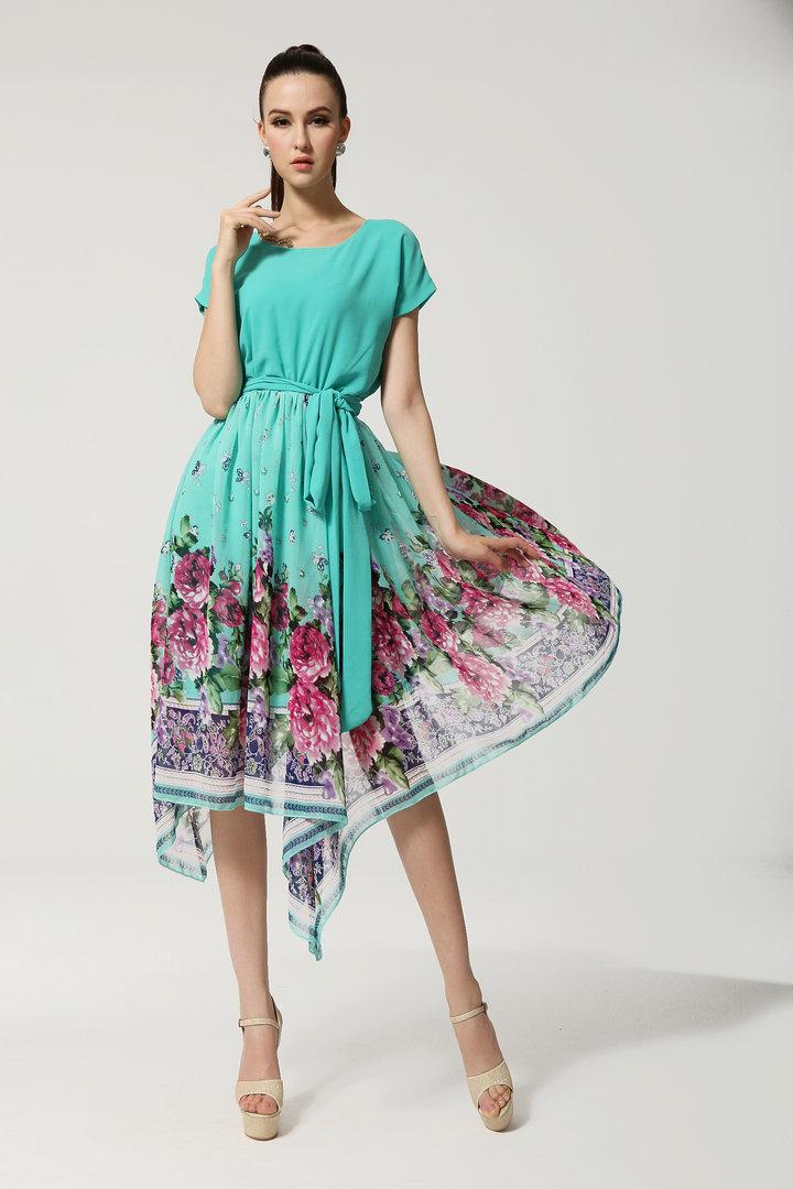 Платья из купонного шифона