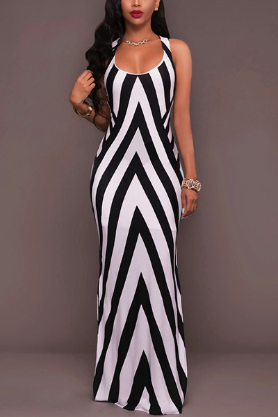 Twilled Satin Fashion U Neck Sleeveless Sheath Ankle Length Dresses Dresses <br><br>