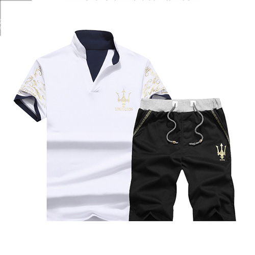 Pullovers Cotton Turndown Collar Print Men Clothes<br>