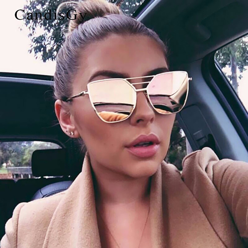 Euramerican Hollow-out Pink Metal Sunglasses<br>