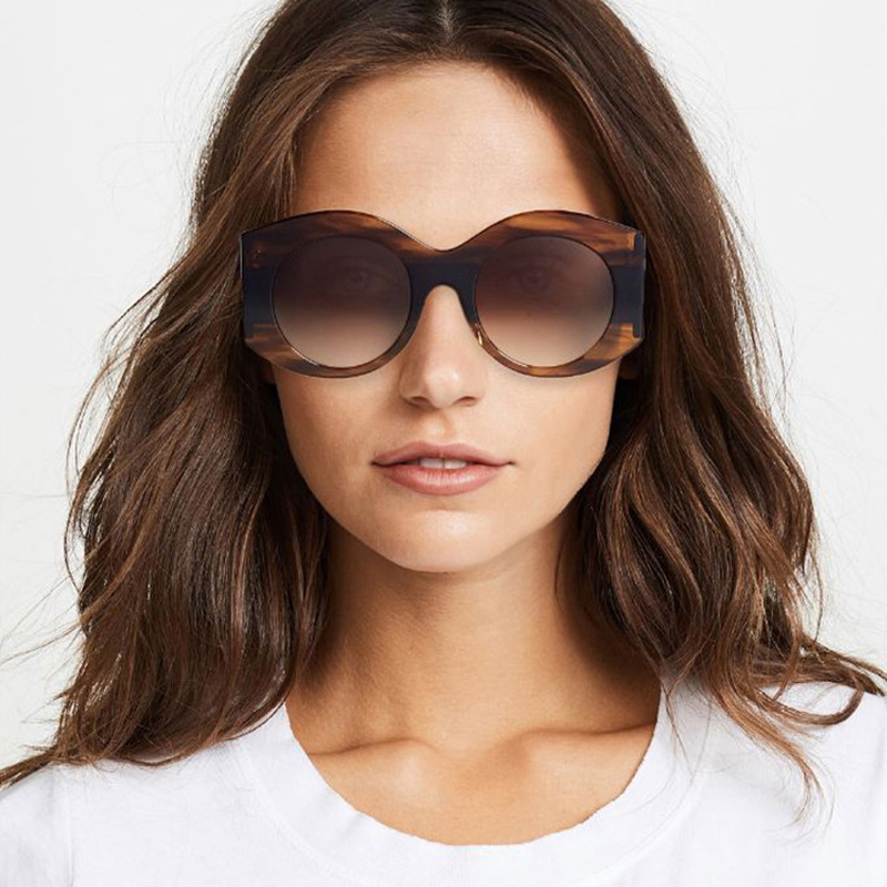 Lovely Fashion Striped Coffee PC Sunglasses<br>