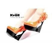Kvoll wholesale novelty lace hot pumps Orange