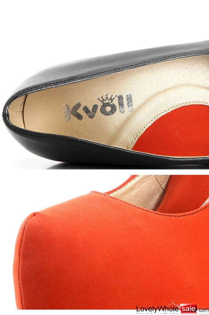 Wholesale Kvoll shoes comfortable wedges Apricot