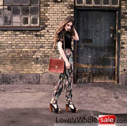 2011 thick heel joker high heel Sandals  grey matte