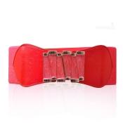 Hot Sales Red Metal Embellished M-shape Elastic Be