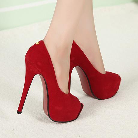 European Styles Round Peep Toe Bow Tie Embellished Stiletto High ...