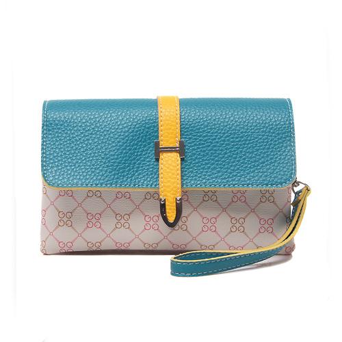 Fashion Vintage Geometric Pattern  Hasp Clutches Yellow PU Bags