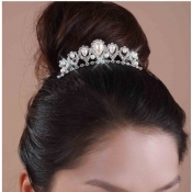 Romantic Elegant Peral Embellished Crystal Wedding