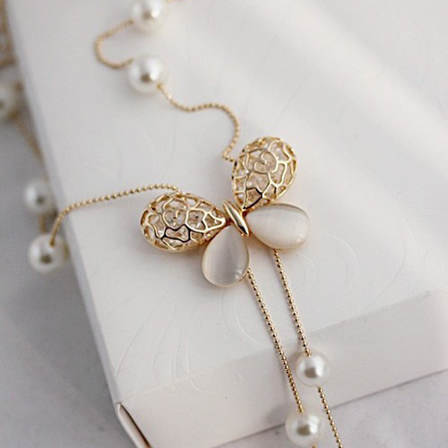 Fashion Butterfly Metal Necklace