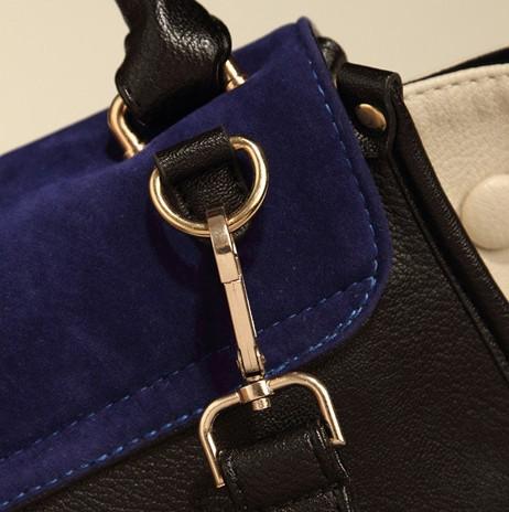 La cremallera del remiendo de la manera del ante de las mujeres clutúa el bolso