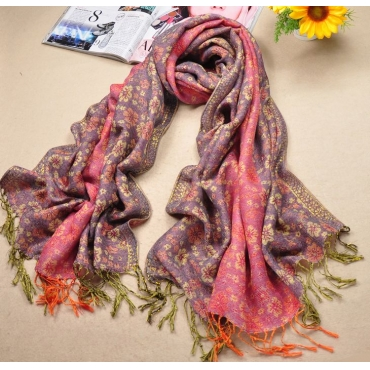 Fashion Pink Cotton Scarf