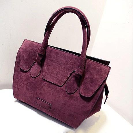 Fashion Solid Zipper Purple PU Clutches Bag
