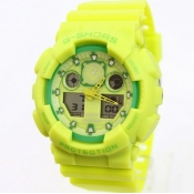 Fashion Green Rubber Watch