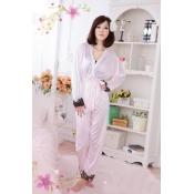 Woman Pink Polyester pajamas