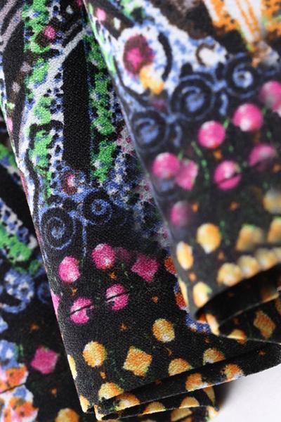 New Style Woman Print Frill A Line Mini Skirts