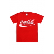 Free Style O Neck Short Sleeves Letters Printed Re
