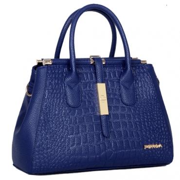 Cheap Fashion Zipper Design Alligator Pattern Solid Blue PU Clutches Bag