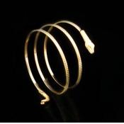 Cheap Vintage Winding Snake Shaped Gold Metal Brac