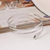 Cheap Fashion Wind Snake Shaped Silver Metal Brace