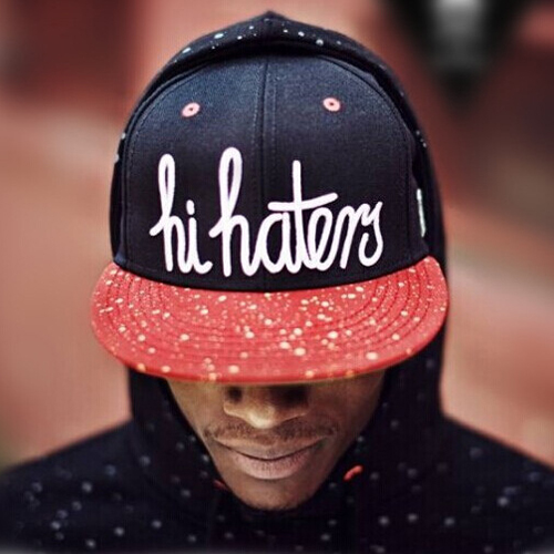 Cheap Casual Letters Print Patchwork Red Cotton Blend Hat