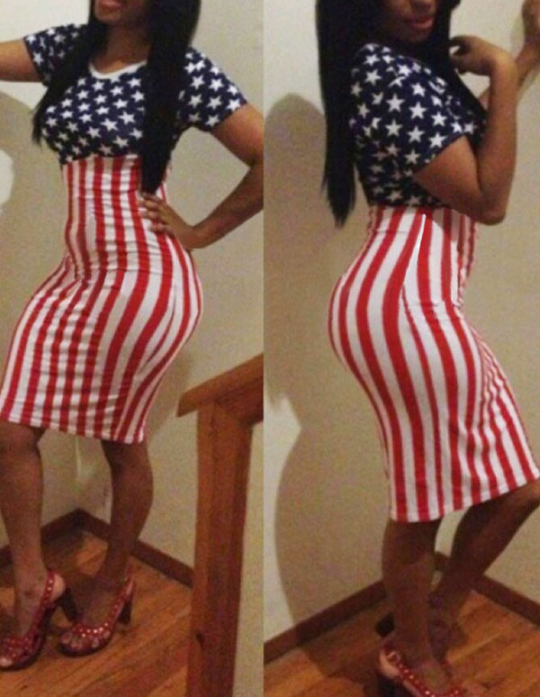 Cheap Fashion O Neck Short Sleeves Polyester Sheath Knee Length Womens Dress