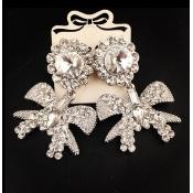 Fashion Sliver Bowknot Shaped Metal Earrings