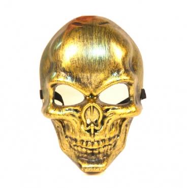Fashion Skeleton Shaped Gold PVC Mask