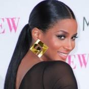 Fashion Square Shaped Gold Acrylic Earrings
