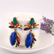 Fashion Gem Decorated Colorful Flower Shaped Metal