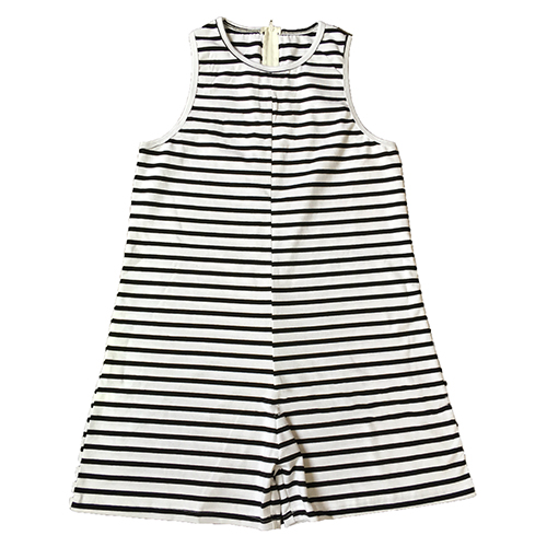 Casual O Neck Tank Sleeveless White Striped Cotton Blend One-piece Jumpsuits (Only Adult's)