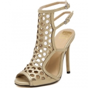 Trendy  Open Toe Hollow-out Stiletto Super High He