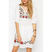poppoly free spirit floral embroidery dress