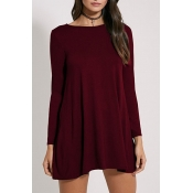 poppoly set you free solid color mini dress