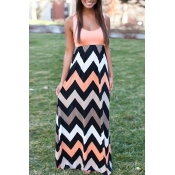 oh my love my girl wavy stripe long dress