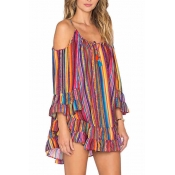 poppoly the rainbows end slip mini dress