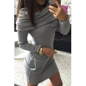 poppoly guess me hooded sweatshirt dress
