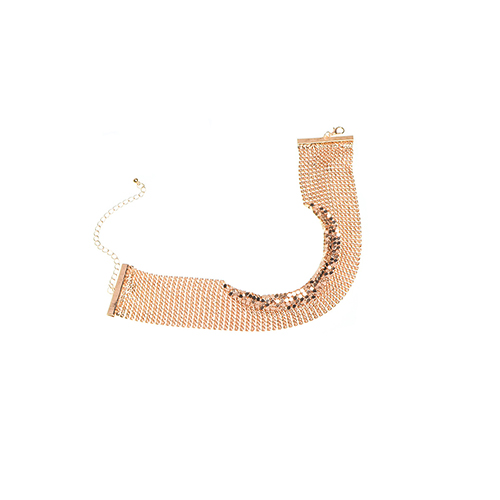 Contracted Style Gold Metal Choker
