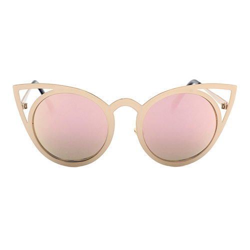 Euramerican Cat's Eye Shaped Hollow-out Pink PC Sunglasses