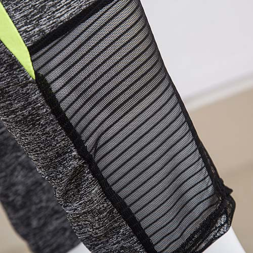 Leisure mangas largas de color block Patchwork algodón de dos piezas pantalones Set