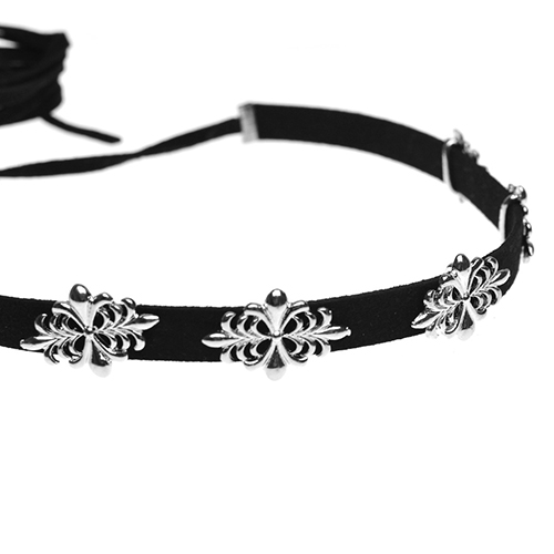 Fashion Metal Decoration Black Necklace