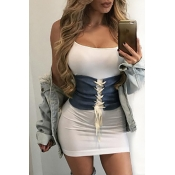 Euramerican Lace-up White Fabric Body Chain