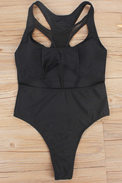 Polyester Solid One Pieces