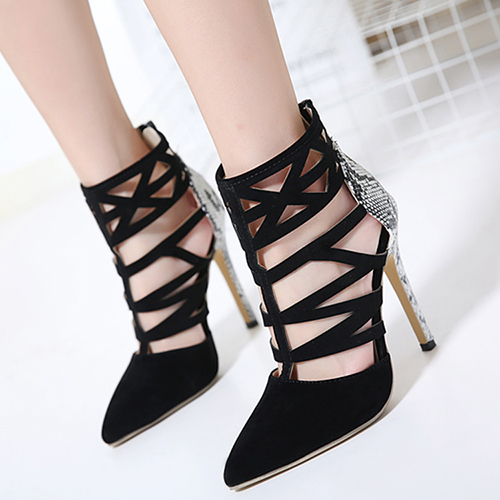 PU Pointed Toe Closed Toe Stiletto Super High Fashion Pumps