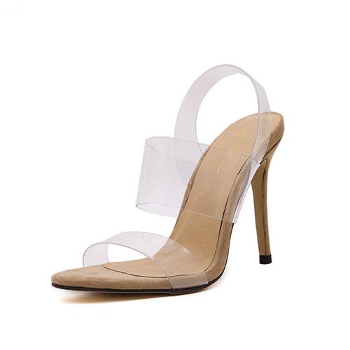 Sandálias De Salto Alto Super Stiletto PU
