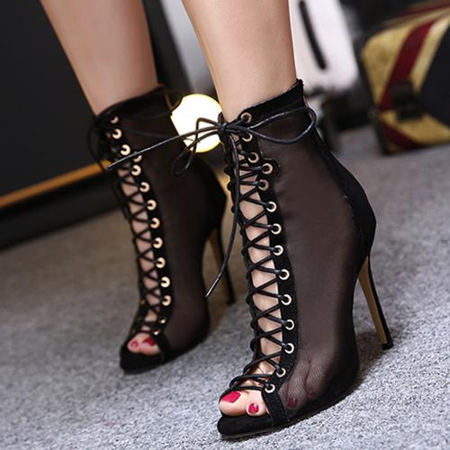 Stiletto Super High Fashion Cross Strap Sandals