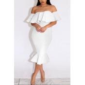 Polyester Sexy Bateau Neck Short Sleeve Sheath Knee Length Dresses
