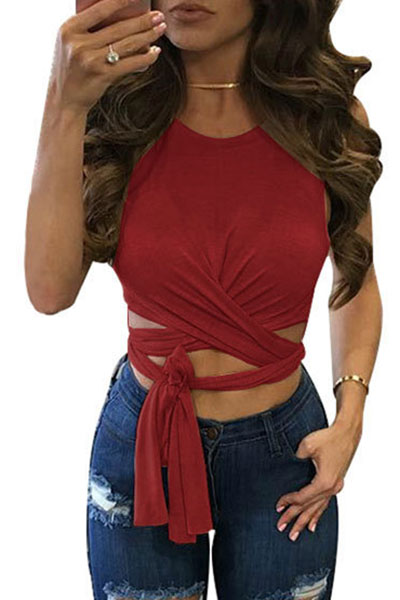 Solid Camisole&Tank Top