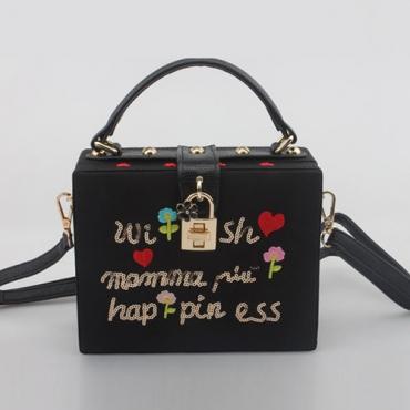 PU Fashion Print Hasp Clutches Bags