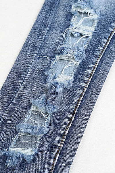 Fashion Broken Holes Blue Denim One-piece Jumpsuits