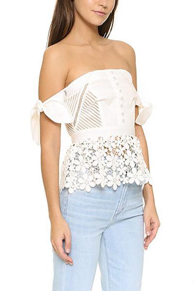 Vests Polyester Bateau Neck Short Sleeve Solid Blouses&Shirts